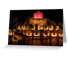 Buckinham Fountain Red Top Greeting Card