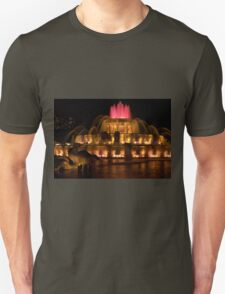 Buckinham Fountain Red Top Unisex T-Shirt