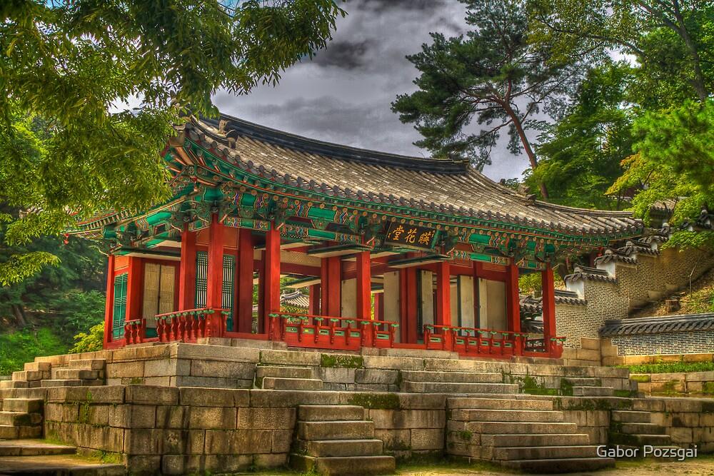 Pavillon at Gyeongbokgung Palace, South Korea by Gabor Pozsgai