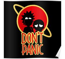 Rick and Morty Don't Panic Poster