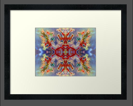 Rainbow Snowflake (Plume Agate) by Stephanie Bateman-Graham