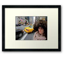 Dove la mia macchina? NY Framed Print