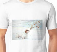 Migrants: Clumber Spaniel and Bohemian Waxwing Unisex T-Shirt