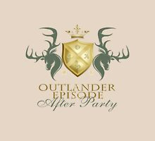 Outlander After Party Shield- Green/Gold Womens Fitted T-Shirt