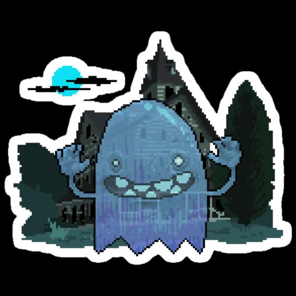 Pixel Ghost by Hellbeard