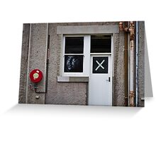 The face at the window, the cross on the door Greeting Card