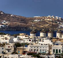 Mykonos Windmills by Tom Gomez