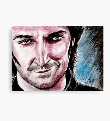 Richard Armitage, the good side of Guy Canvas Print