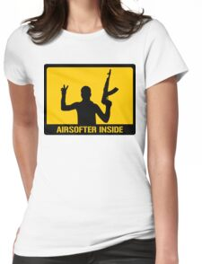 Airsofter inside Womens Fitted T-Shirt