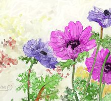 Spring Flowers ii - 2012 by Sue Flask