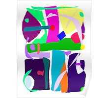 Colors Dots Stripes Curves Flair Poster