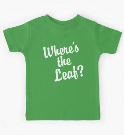 Where's the Leaf? (White Text) Kids Clothes