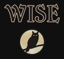 wise owl dark Halloween night by tia knight