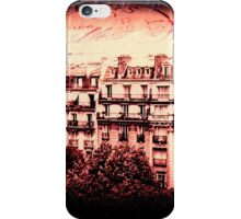 Paris Rooftops in Red iPhone Case/Skin