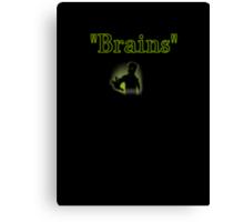 brains zombie funny halloween Canvas Print