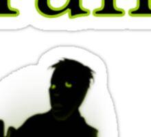 brains zombie funny halloween Sticker