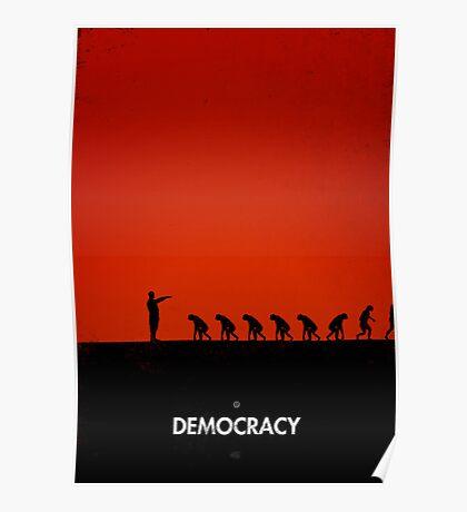 99 Steps of Progress - Democracy Poster