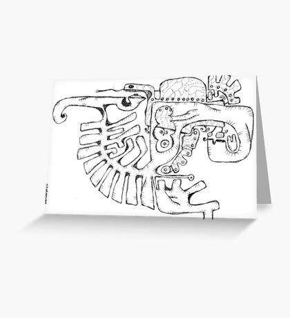 Abstract balck vector animals Greeting Card