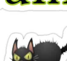 cool cranky black Halloween funny cat Sticker