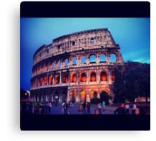 Twilight Colosseum Canvas Print