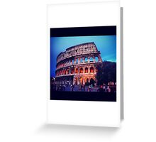 Twilight Colosseum Greeting Card