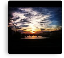 Sunset over the Arno Canvas Print