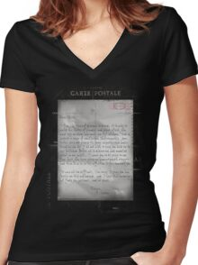 Dear Edith Crawley Women's Fitted V-Neck T-Shirt