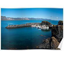 Arnarstapi, fishing village Poster