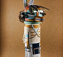 Lizard God Kachina by Carl  Onsae