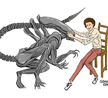 Alien & Sigourney Weaver by Giovanni Kuan