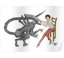 Alien & Sigourney Weaver Poster