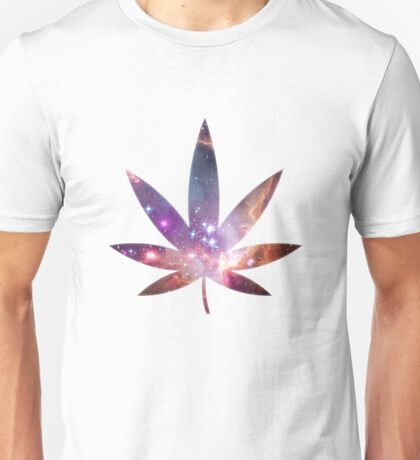 Cosmic Pot Leaf Unisex T-Shirt