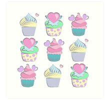 Sweet cupcakes Art Print