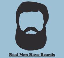 Real Men Have Beards (Black Beard) Kids Clothes