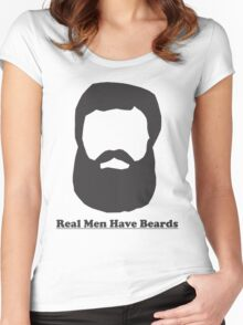 Real Men Have Beards (Black Beard) Women's Fitted Scoop T-Shirt