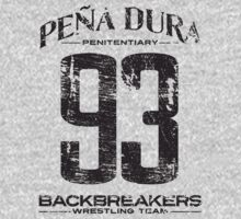 Peña Dura Backbreakers Wrestling Team (Black) by mysundown