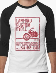 Lanford Custom Cycle Men's Baseball ¾ T-Shirt