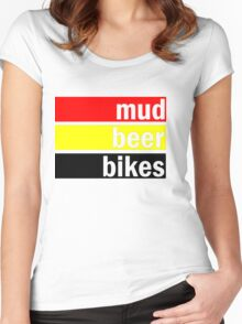 Mud, beer and bikes Women's Fitted Scoop T-Shirt