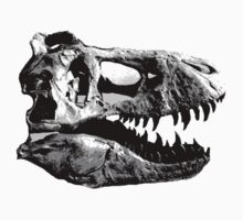 T-Rex Halfdot Skull Kids Clothes