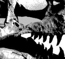 T-Rex Halfdot Skull Sticker
