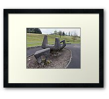 East Kilbride - Jim Barclay Sculptures On Baths Hill Framed Print