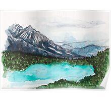 Lake Nature Scene Poster