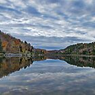 Mirror Lake ~ Fall Forest under Blue Skies & Clouds by Chantal PhotoPix