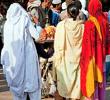 Women At The Vendors by phil decocco