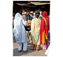 Women At The Vendors Poster