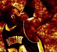 Kobe Bryant Fire Iphone Case by Borisr55