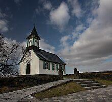 little church at Thingvellir national park by JorunnSjofn Gudlaugsdottir