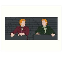 The Weasley Twins Art Print