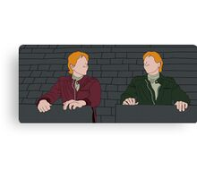 The Weasley Twins Canvas Print