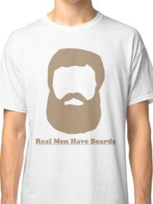 Real Men Have Beards (Brown Beard) Classic T-Shirt